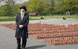 Dutch Chief Rabbi Binyomin Jacobs at Westerbork Memorial Center, May 14, 2017. (Cnaan Liphshiz)