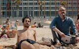 Niv Nissim (left) and John Benjamin Hickey in Eytan Fox's new film, 'Sublet,' the opening film of the rescheduled digital Jerusalem Film Festival, opening December 10, 2020 (Courtesy Daniel Miller)