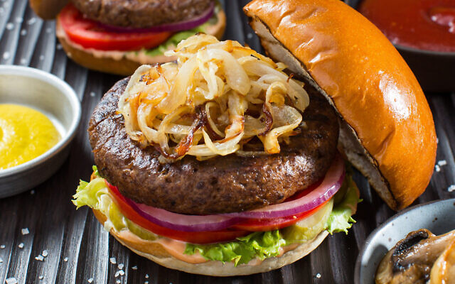 A plant based burger developed by SavorEat (Courtesy)