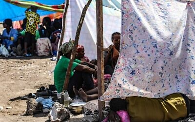 Ethiopians, who fled their homes due to ongoing fighting, are pictured at a refugee camp in the Hamdait border area of Sudan's eastern Kassala state on November 12, 2020. (AFP)