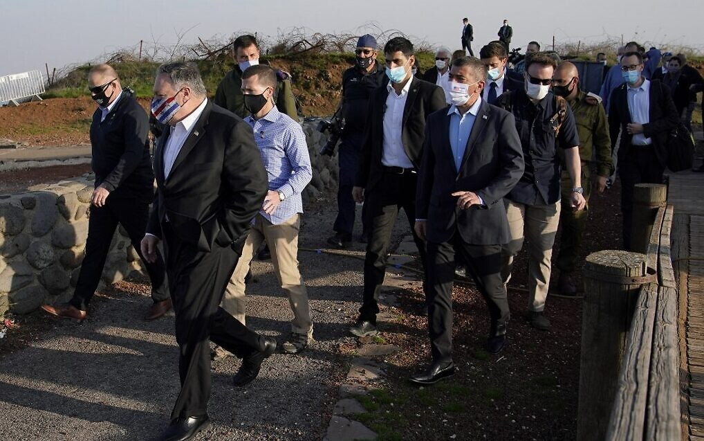 Image result for pompeo visits golan heights