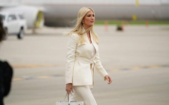Ivanka Trump arrives in Cleveland ahead of the first presidential debate, Sept. 29, 2020. (Mandel Ngan/AFP via Getty Images)