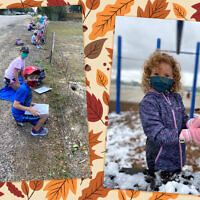 Students participate in outdoor activities at the Denver Jewish Day School, even as the weather turns chilly. (Courtesy of Denver Jewish Day School/ via JTA)