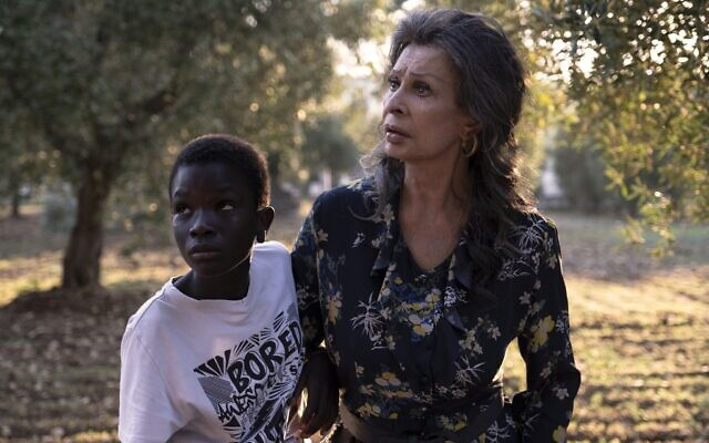 Ibrahima Gueye, left, as Momo and Sophia Loren as Madame Rosa in 'The Life Ahead,' directed by Edoardo Ponti. (Courtesy)