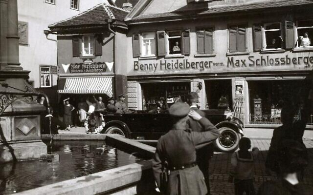 Benjamin Heidelberger's store in Bad Mergentheim, southern Germany, in an undated photo (Courtesy)