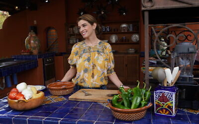 Celebrity chef Pati Jinich in the kitchen at a pecan hacienda, or farm, in the Mexican state of Sonora. (Courtesy Jinich)