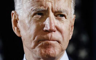Democratic US presidential candidate former Vice President Joe Biden speaks about the coronavirus, March 12, 2020, in Wilmington, Delaware. (AP Photo/Matt Rourke, File)