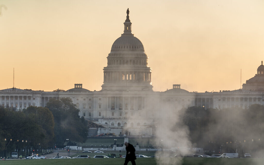 The Capitol is seen in Washington on the morning after Election Day, November 4, 2020. (AP Photo/J. Scott Applewhite)