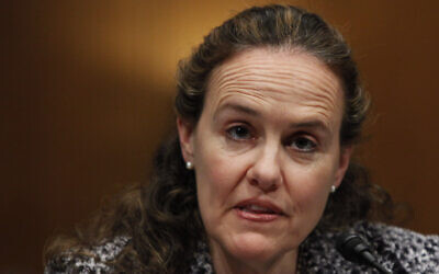Then US Defense Undersecretary for Policy Michele Flournoy testifies on Capitol Hill in Washington before the Senate Armed Services Committee hearing on Afghanistan, February 22, 2010. (AP Photo/Manuel Balce Ceneta, File)