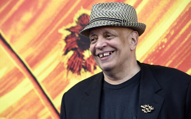 """Walter Mosley, consulting producer/writer of the FX television series """"Snowfall,"""" poses at the third season premiere of the show, Monday, July 8, 2019, in Los Angeles. (Chris Pizzello/Invision/AP)"""