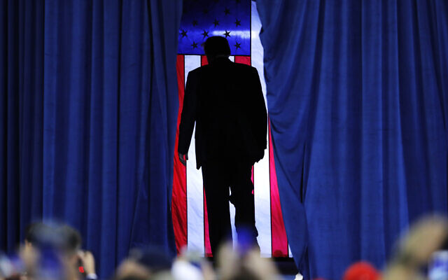 President Donald Trump exits after speaking at a campaign rally in Lake Charles, La., Friday, October 11, 2019. (AP/Gerald Herbert)