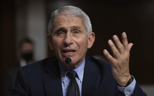 Dr. Anthony Fauci, Director of the US National Institute of Allergy and Infectious Diseases at the National Institutes of Health, listens during a Senate Senate Health, Education, Labor, and Pensions Committee Hearing on the federal government response to COVID-19 Capitol Hill on September 23, 2020, in Washington. (Graeme Jennings/Pool via AP)