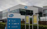 A general view of Pfizer Manufacturing Belgium in Puurs, Belgium, Monday, Nov. 9, 2020 (AP Photo/Virginia Mayo)
