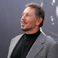 "Larry Ellison at the LA Premiere of ""Terminator Genisys"" at the Dolby Theatre on June 28, 2015, in Los Angeles. (Rich Fury/Invision/AP)"