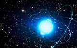 This artist's impression shows a magnetar in the star cluster Westerlund 1. (ESO/L. Calçada/Wikipedia CC BY 4.0)