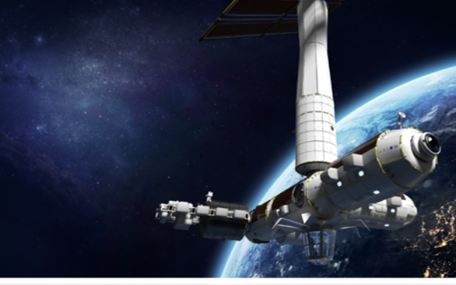 Illustration of the space shuttle that will carry Israel's second-ever astronaut (Axiom Space)
