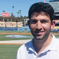 Number cruncher for the Dodgers: Meet North Jersey native Sammy Elias. (Courtesy of Elias/ via the Jewish Standard)