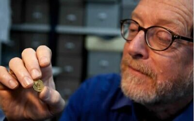 Israel Antiquities Authority coin department head Dr. Donald T. Ariel. (Shai Halevi/IAA)