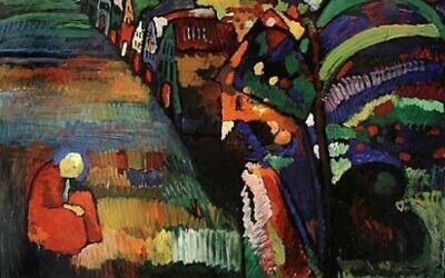 'Painting with Houses' ('Bild mit Häusern'), a 1909 painting by Wassily Kandinsky. (Wikimedia Commons/PD-old-75)
