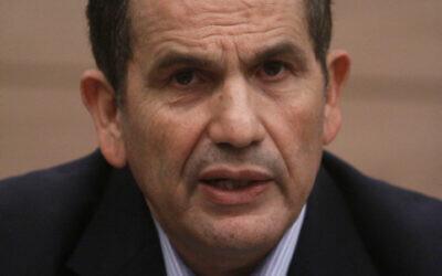 Yaakov Edri at the Knesset  Jan. 03, 2011 (Uri Lenz/FLASH90)