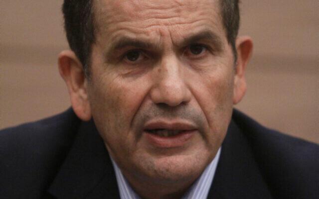 Yaakov Edri, the mayor of Or Akiva, at the Knesset, January 03, 2011. (Uri Lenz/FLASH90)