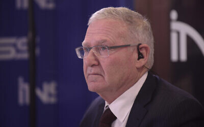 Institute for National Security Studies chairman Amos Yadlin, a former head of IDF Military Intelligence (Tomer Neuberg/ FLASH90)
