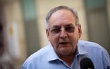 Prof. Zeev Rotstein, CEO of Hadassah Hospital  speaks during a press conference at the Hadassah Ein Karem hospital in Jerusalem on November 1, 2020. (Yonatan Sindel/Flash90)