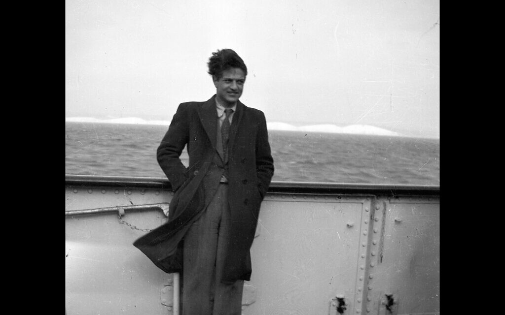 Billionaire George Soros on a ship in this undated photo used in the film 'Soros.' (Courtesy Vital Pictures)