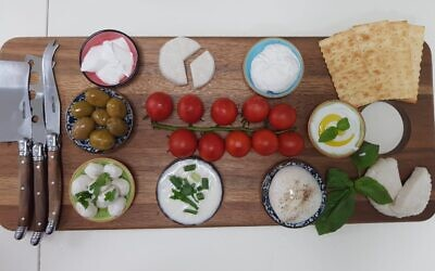 A cheese platter made with Remilk's milk proteins (Courtesy)