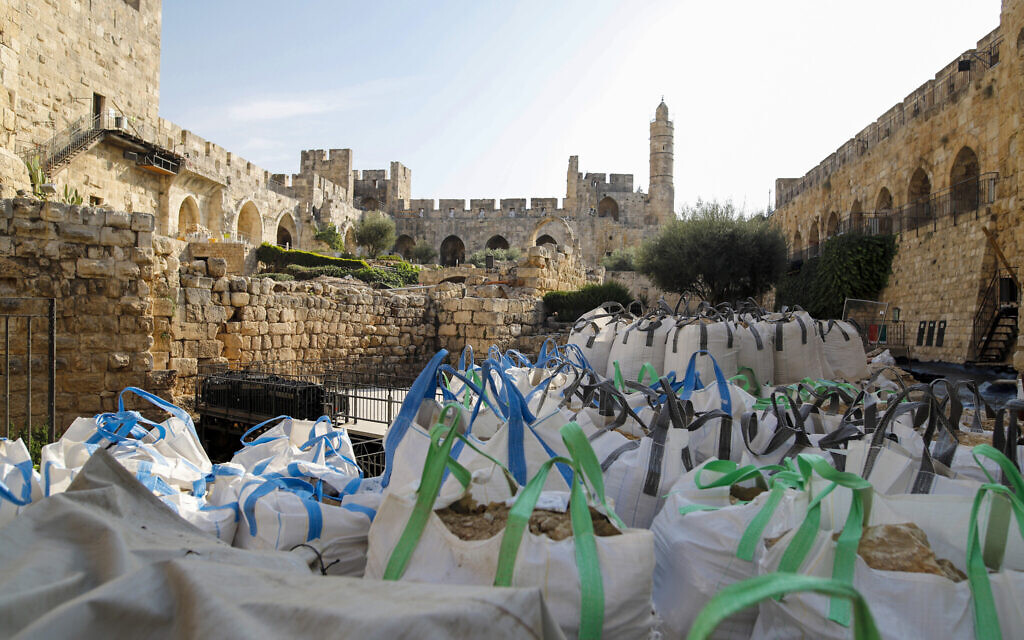 Excavations at Jerusalem's Tower of David Museum, November 2020 (Ricky Rachman)