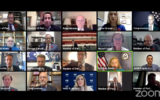 An inter-parliamentary task force to combat online anti-Semitism convenes its first session over Zoom on November 10, 2020. (Screen capture/Zoom)