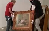 Masterpieces by Renoir, Pissarro, Gauguin and Monet that were borrowed by a South Korean museum from the Israel Museum and recently returned to the Jerusalem institution in November 2020 after a prolonged stay due to the coronavirus (Courtesy Israel Museum)