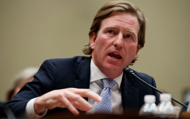 Department of Homeland Security Cybersecurity and Infrastructure Security Agency Director Christopher Krebs testifies on Capitol Hill in Washington, May 22, 2019. (AP Photo/Carolyn Kaster, File)