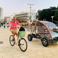 An electric car for elderly people, a project developed by students and faculty of Ariel University (Courtesy)