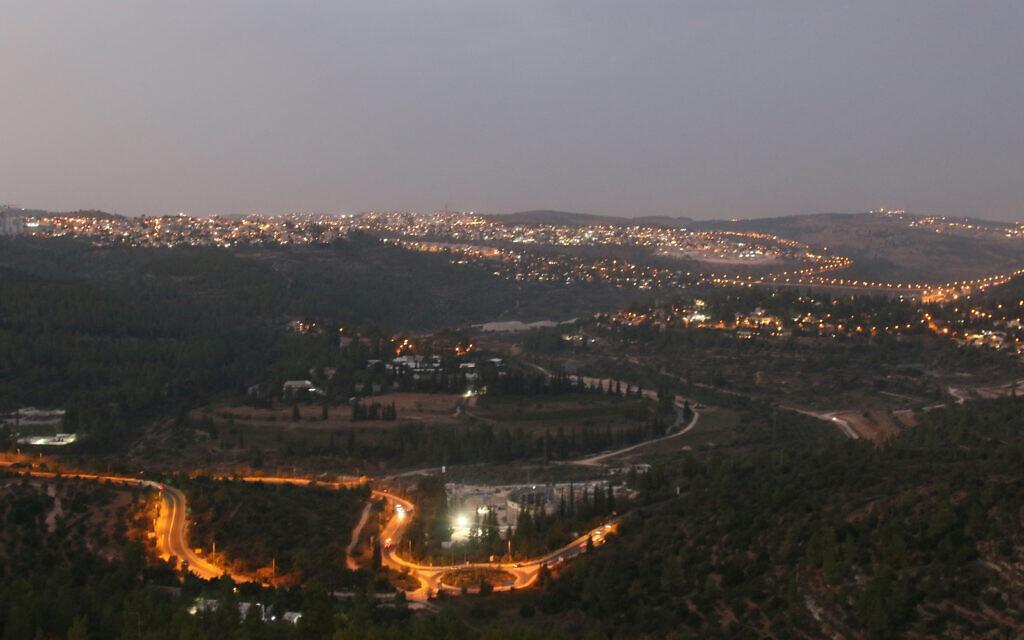 The evening view from Jerusalem's Ein Kerem walkway. (Shmuel Bar-Am)