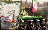 Casket is carried at Tehran funeral of top Iranian nuclear scientist Mohsen Fakhrizadeh, November 30, 2020 (Screen grab)