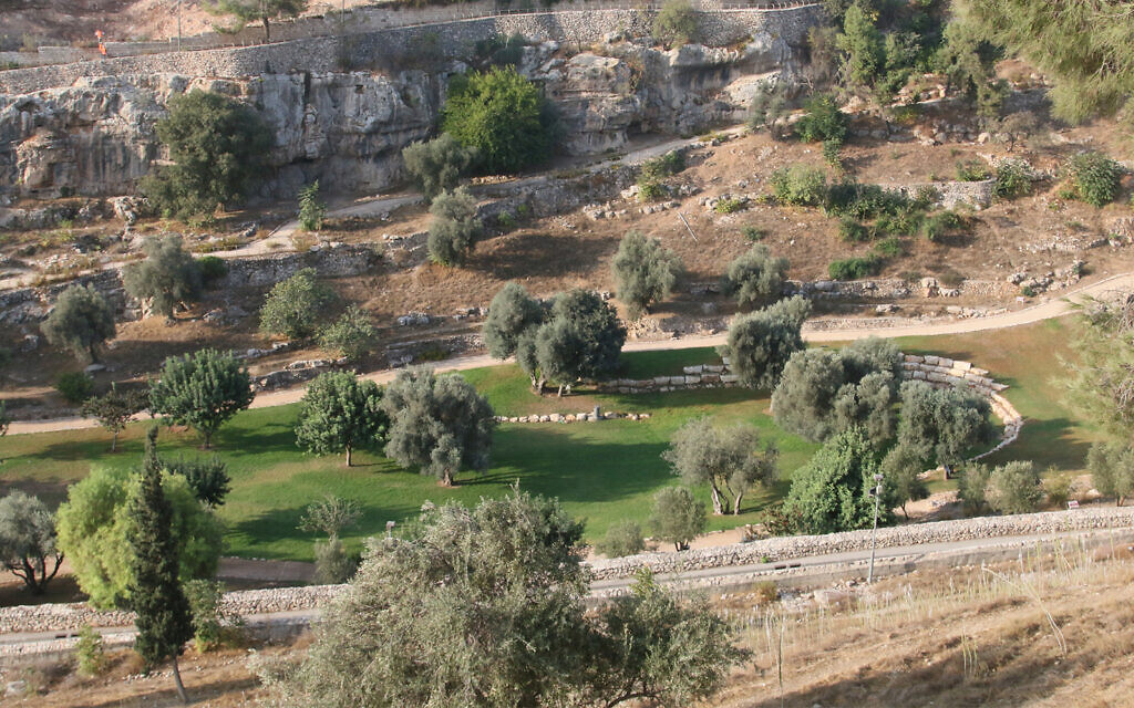 The Hinnom Valley is believed to be the site of sacrifices in ancient times. (Shmuel Bar-Am)