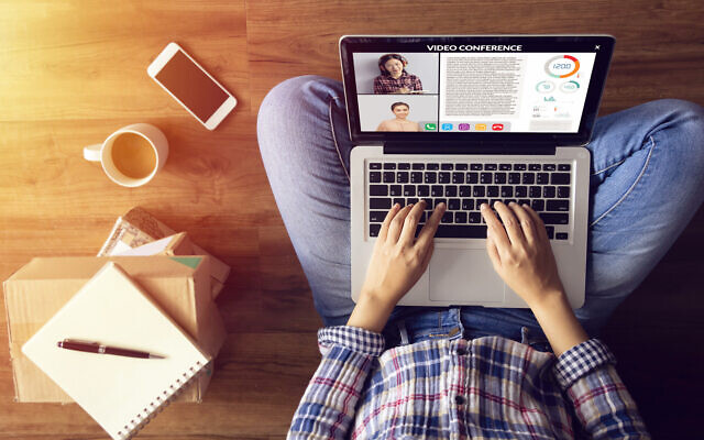 Illustrative image of working from home, video conferencing and a laptop (asiandelight; iStock by Getty Images)