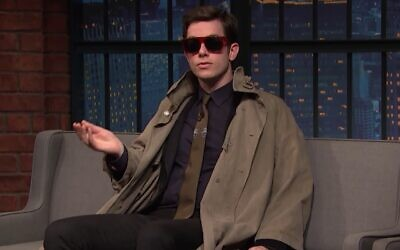 John Mulaney as a 'ghost enthusiast' on 'Late Night with Seth Meyers,' November 12, 2020 (Screen shot from YouTube via JTA)