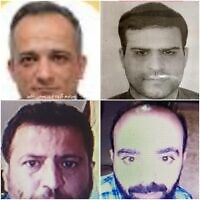 Four alleged suspects in the killing of nuclear scientist Mohsen Fakhrizadeh (Twitter)