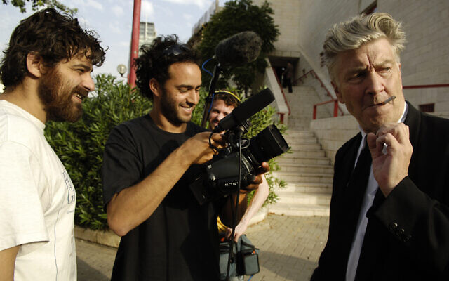 Jerusalem's Sam Spiegel Film School is celebrating 30 years of filmmaking with a free VOD site in November, marking filmmaking moments that have included Doron Djerassi's 2007 opportunity to film David Lynch in Israel. (courtesy, Yossi Zwecker)