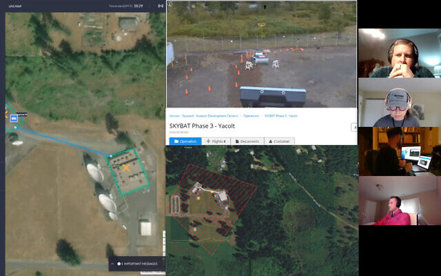 The drone developed by Percepto was operated by Skyward, a subsidiary of Verizon (Courtesy)