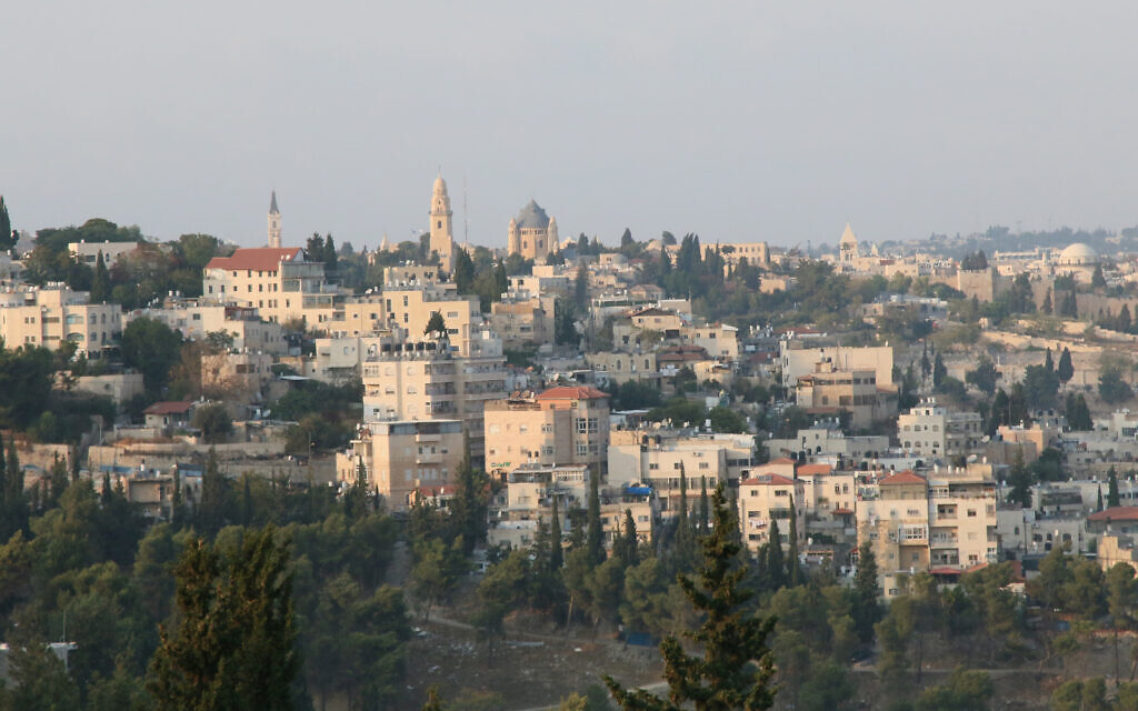 A view from Gabriel Way, part of the Armon Hanatziv Promenade. (Shmuel Bar-Am)