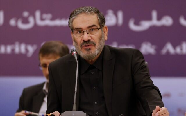 In this file photo taken on September 26, 2018, Ali Shamkhani, secretary of Iran's Supreme National Security Council, speaks during the first meeting of national security secretaries in the Iranian capital Tehran. (ATTA KENARE / AFP)