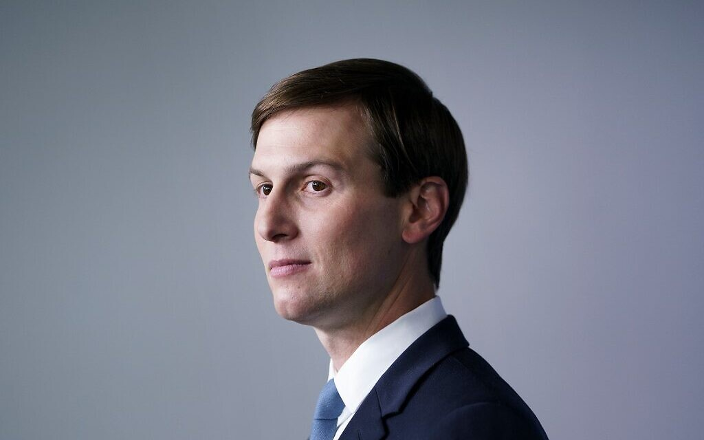 In this file photo taken on September 4, 2020 Senior Advisor to the President Jared Kushner  attends a press conference in the Brady Briefing Room of the White House in Washington, DC (Brendan Smialowski / AFP)