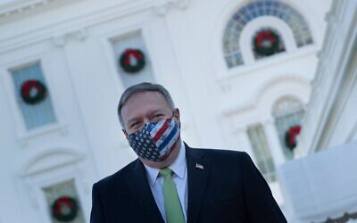 In this file photo US Secretary of State Mike Pompeo leaves the White House after visiting with family December 11, 2020, in Washington, DC (Brendan Smialowski / AFP)