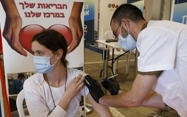 As 2021 dawns, Israel becomes first country to vaccinate 10% of population  | The Times of Israel