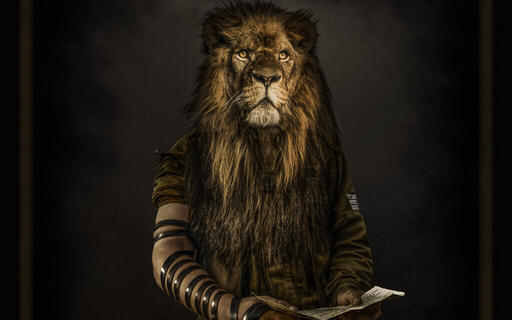 'The Lion From Zion,' created by Moses Pini Siluk to raise morale among Israeli soldiers injured during the last war with Hamas in Gaza. (Moses Pini Siluk)