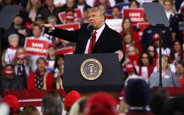 President Donald Trump attends a rally in support of Sen. David Perdue (R-GA) and Sen. Kelly Loeffler (R-GA) on December 05, 2020 in Valdosta, Georgia.(Spencer Platt/Getty Images/AFP)