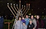 Houston's Chabad chapter lights a large menorah at City Hall every year. (YJP Houston via JTA)